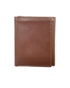 Brown Tri Fold Leather Wallet