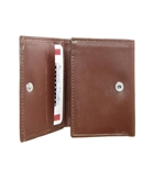 Buy Brown Tri Fold Leather Wallet  online