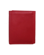 Red Tri Fold Leather Wallet