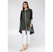 Black Flower Embroidered Kurti for Women Mardaz-1122