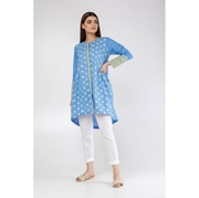 Blue Flower Embroidered Kurti for Women Mardaz-1124