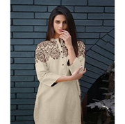 Cream Embroidered Kurti for Women Mardaz-1125