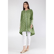 Green Flower Embroidered Kurti for Women Mardaz-1128