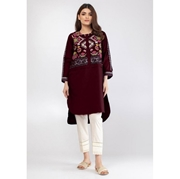 Maroon Embroidered Kurti For Women Mardaz-1134