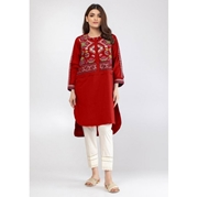 Red Embroidered Kurti For Women Mardaz-1137