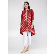 Red Flower Embroidered Kurti For Women Mardaz-1138