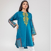 Blue Cotton Printed Kurti For Women Mardaz-1147