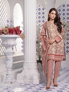 Women Summer Collection V3 Unstitched-Embroidered 3-pc Multi Lawn Suit KLA-9050