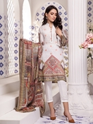 Women Summer Collection V3 Unstitched-Embroidered 3-pc Multi Lawn Suit KL-4079