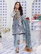 Women Summer Collection V3 Unstitched-Embroidered 3-pc Multi Lawn Suit KC-5053