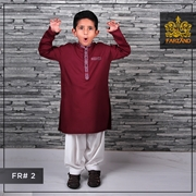 Maroon Kurta Shalwar for Infants Kids Teens FR#2 4 to 7yrs