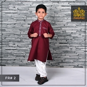 Maroon Kurta Shalwar for Infants Kids Teens FR#2 8 to 13yrs