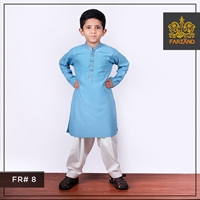 Aqua Blue Kurta Shalwar for Infants|Kids|Teens FR#8 6M to 3Yrs