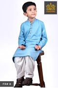 Aqua Blue Kurta Shalwar for Infants|Kids|Teens FR#8 4 to 7yrs