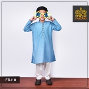 Buy Aqua Blue Kurta Shalwar for Infants|Kids|Teens FR#8 4 to 7yrs  online