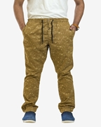 Men'S Camel Cotton Trousers