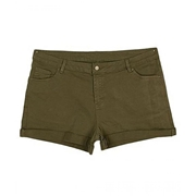Dark Green Sexy Stretch Shorts