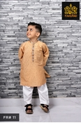 Buy Salmon Printed Kurta Shalwar for Infants|Kids|Teens FR#11 6M to 3Yrs  online
