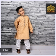 Salmon Printed Kurta Shalwar for Infants|Kids|Teens FR#11 4 to 7yrs