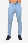 Buy Premium Sky Blue Stretchable Chino - TT L Blue  online