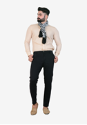 IGNITE Impeccable Slim Fit Black Chino - Sadeck Black