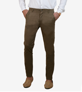 Machine Red-Cotton-Stretch Men'S Chino-Slim Fit - Machine Red