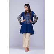 Blue Embroidered Kurti for Women Mardaz-1156