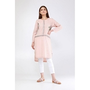 Peach Embroidered Kurti For Women Mardaz-1160