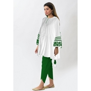 White Embroidered Kurta For Women Mardaz-1161