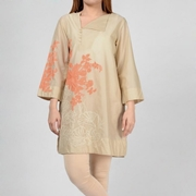 Skin Embroidered Kurti For Womens Mardaz-1165