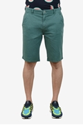 Green Stretchable Chino Short - Medicine Green Short