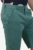 Buy Green Stretchable Chino Short - Medicine Green Short  online