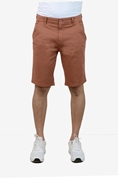 Brown Stretchable Chino Short - Medicine Brown Short