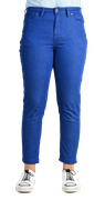 Basic Royal Blue Stretch Pants For Women - TEX Royal Blue