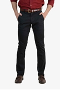 Black Brown Smart Stretchable Chino - 040 Black