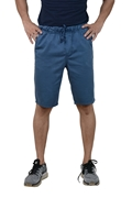 Blue Premium Men's Cotton Short - Blue Cotton Short W Cord