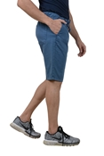Buy Blue Premium Men's Cotton Short - Blue Cotton Short W Cord   online