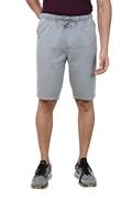 Grey Premium Men's Cotton Short - Grey Cotton Short W Cord