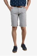 Mens Grey Chino Cotton Short - TRN Short- Grey