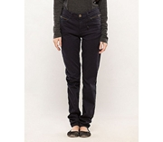 Navy-Cotton-Stretch Women Slim Fit Trousers - B-Young Navy
