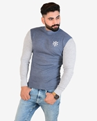 Buy IGNITE Navy Grey Sporty Thermal Crew Neck - Thermal Blue H.Grey  online