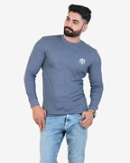 Ignite Navy Sporty Thermal Crew Neck - Thermal Blue