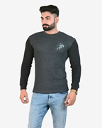 Ignite Black Charcoal Grey Get Set Go Thermal Crew Neck - Thermal Charcoal Black