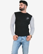 IGNITE Black Grey Get Set Go Thermal Crew Neck - Thermal Black H.Grey
