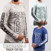 Buy Pack Of 3 Exclusive Squad T-Shirt's for men's  online