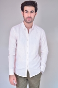 Ignite Button Down Shirt-Light Pink
