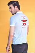 Buy Ignite Star Print Polo Pastle Grey  online
