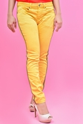 Women's Side Striped Stretch Skinny Jeans - Yellow