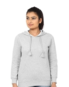 Heather Grey Pull Over Fleece Hoodie for Women