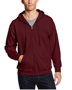 Maroon Zipper Fleece Hoodie for Men